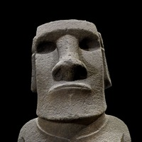 Half British Museum collection now online with close-up of Easter Island statue