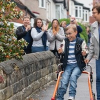 Uplifting news: A lockdown marathon and a lawn-art tribute to the NHS