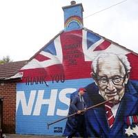 Video: Mural honouring fundraising efforts of Captain Tom Moore painted in east Belfast