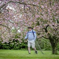 Doctor walking Camino in his garden raises almost £17k for charity
