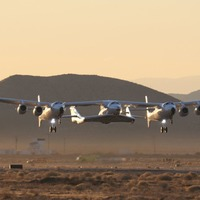 Virgin Galactic spaceship completes glide flight in New Mexico