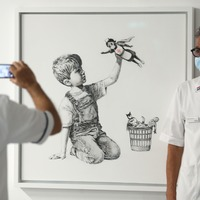 New Banksy artwork 'a morale boost', say hospital staff