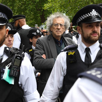 Jeremy Corbyn's brother arrested after claims made over a megaphone that 5G and the coronavirus pandemic were linked