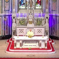 Fermanagh priest plays The Sash at Mass
