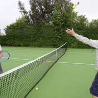 Tennis players getting back into the swing of the game as clubs re-open