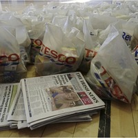 Irish News donates more than 300 newspapers as part of west Belfast food parcel drive