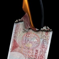 For hard-pressed savers, it's like setting your banknotes alight . . .