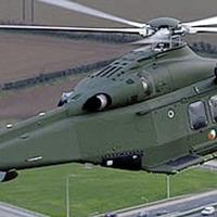 Door falls off helicopter in Dublin
