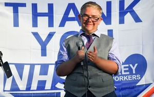 Youth raises more than £1k for local hospital charity by singing ahead of clap