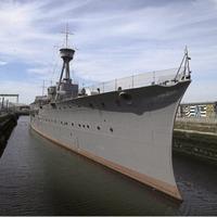 Photographs highlighting development of renovation of First World War ship docked in Belfast released