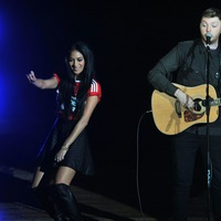 Nicole Scherzinger and James Arthur perform virtual duet
