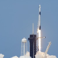 Nasa launches US astronauts into space on SpaceX rocket