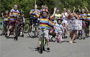 Belfast schoolboy (6) completes month-long cycle challenge for hospice workers
