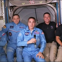 Astronauts Doug Hurley and Bob Behnken set foot on the space station