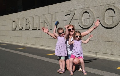 Crowds gather at Dublin Zoo for reopening