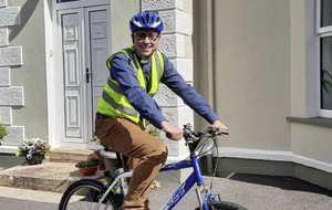 Cycling clergyman beats lockdown to visit parishioners