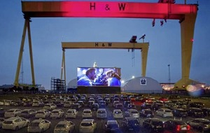 Belfast's giant drive-in movie experience to raise funds for Covid-19 research at QUB