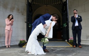 Congratulations for second couple to marry at Belfast City Hall since lockdown