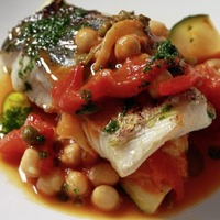 James Street Cookery School: Hake with chickpeas and fennel, Niçoise salad