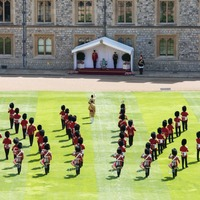 In Pictures: Soldiers socially distance to mark Queen's official birthday