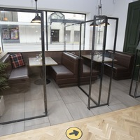 Glasgow bar gives glimpse into social distancing revamp with private pods
