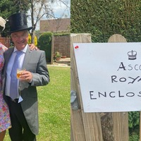 Racing fans don finery to recreate glitz of Royal Ascot at home