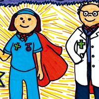 Seven-year-old's picture of medical 'heroes' wins Big Issue competition