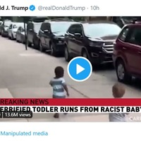 Twitter labels 'racist baby' video shared by Trump as 'manipulated media'