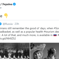 Ukraine hits back at 'toxic ex' as Russia reminisces on Soviet rule