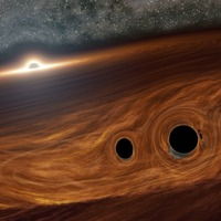 Flares of light likely created by colliding black holes seen for first time