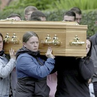 Family and friends of teen Samuel McCullough gather for his funeral in Co Down