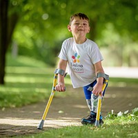Boy, 5, raises £1m for charity walking 10km on prosthetic legs