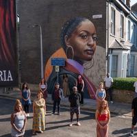 EastEnders unveils new mural of black woman as filming resumes