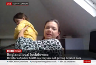 Mummy, what's his name? Daughter interrupts expert's live TV interview