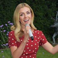Katherine Jenkins battles rain during live-stream show for care home residents