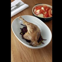 James St Cookery School: Duck confit with pickled red cabbage, and apple galette