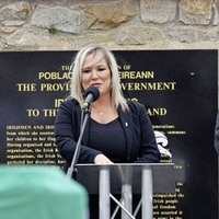 Arlene Foster calls for Michelle O'Neill to step down over attendance at Bobby Storey funeral