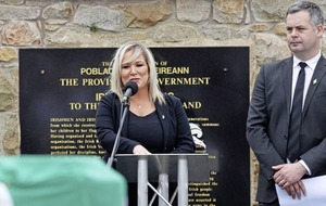 Michelle O'Neill says 'I would never compound any family's grief and I said I was sorry for that' as Bobby Storey funeral row continues