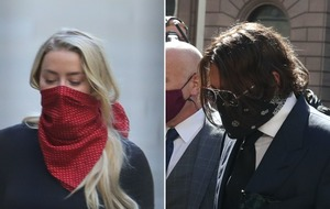 Johnny Depp arrives at High Court for start of libel case against The Sun