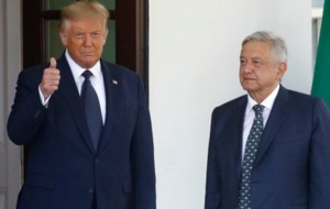 Donald Trump claims link with Mexico improved as he hosts President Andres Manuel Lopez Obrador