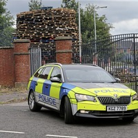 Tensions rise at loyalist bonfire on north Belfast interface