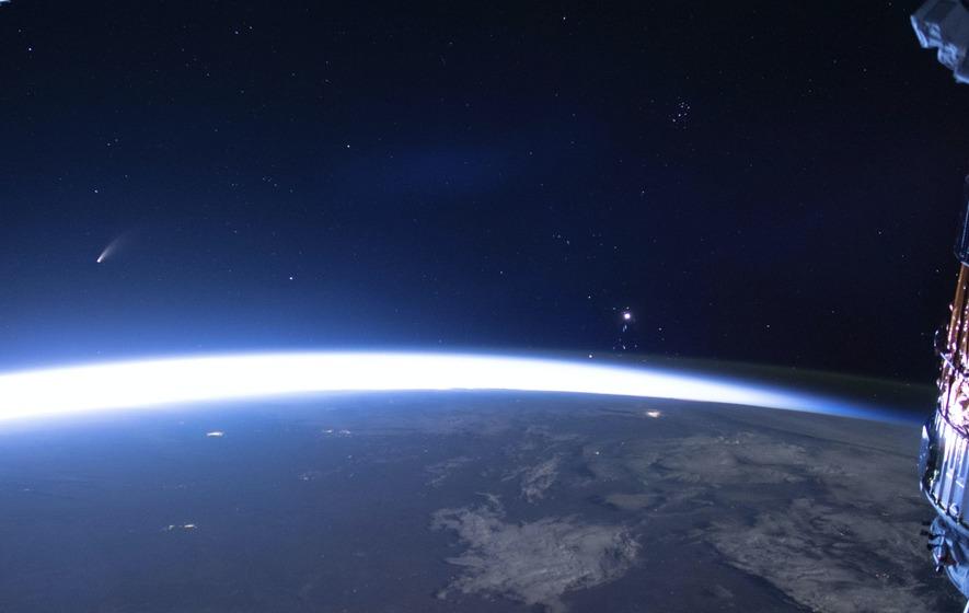 See Comet Neowise As It Streaks Past Earth's Atmosphere