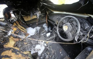 Republican activist's car among three vehicles damaged in arson attack