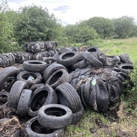 Thousands of tyres dumped in Pomeroy field