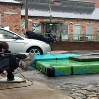 Corrie's Mikey North describes filming 'nerve-wracking' socially distanced stunt