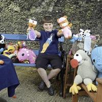 Schoolboy teaches himself to crochet in lockdown