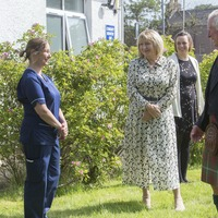 Charles gives health workers morale boost on hospital visit