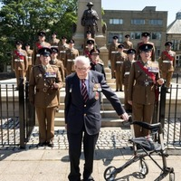 Captain Sir Tom Moore receives honorary freedom of his home town
