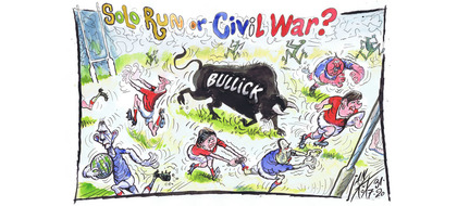 Solo run or civil war?