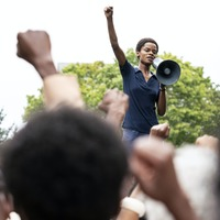Letitia Wright addresses protesters in first trailer for Small Axe film Mangrove